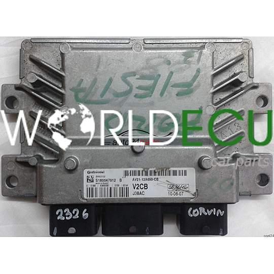 ECU ENGINE CONTROLLER FORD FIESTA MK7 1 25 AV2112A650CB, AV21-12A650-CB  V2CB, S180047012B, S180047012 B, EMS2102