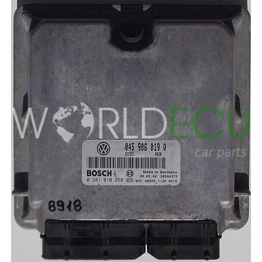 CALCULATEUR MOTEUR VOLKSWAGEN LUPO 1.2 TDI BOSCH 0 281 010 258, 0281010258, 045 906 019 Q, 045906019Q