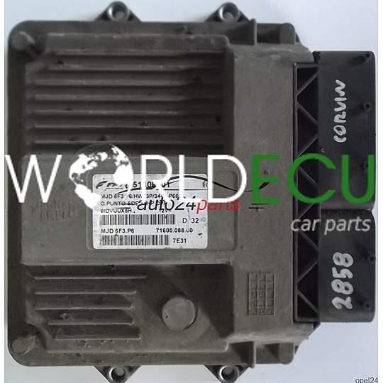 Ecu Engine Controller Fiat Grande Punto 1 3 Jtd Magneti