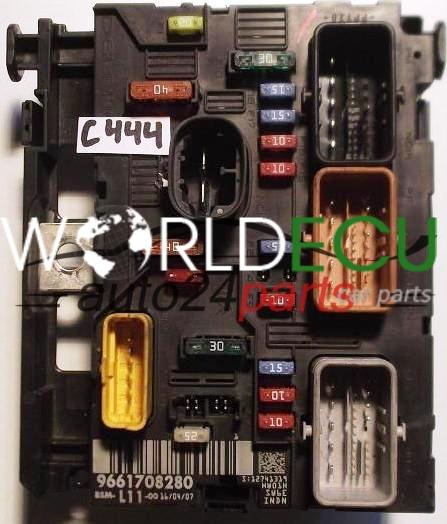COMFORT CONTROL MODULE PEUGEOT 207 307 BSM 9661708280