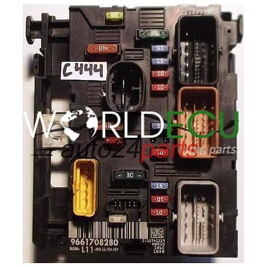 comfort control module peugeot 207 307 bsm 9661708280 fuse box bsi world ecu. Black Bedroom Furniture Sets. Home Design Ideas