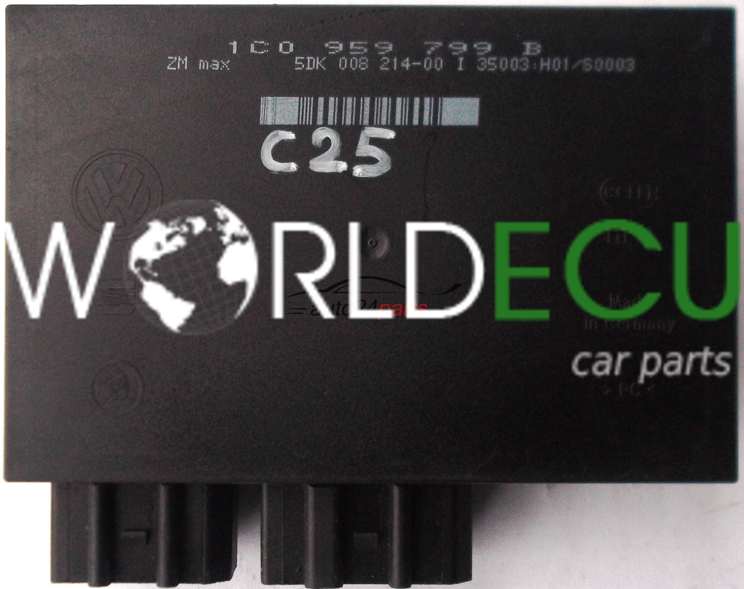 Comfort Control Module 1c0959799b 1c0 959 799 B Hella 5dk008214 00