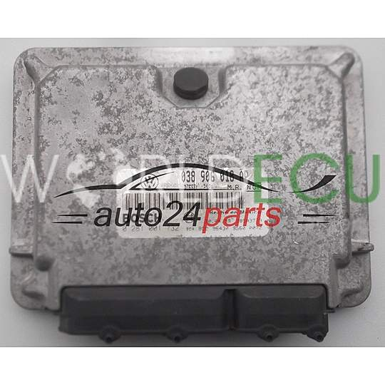 CALCULATEUR MOTEUR VW VOLKSWAGEN NEW BEETLE 1.9 TDI BOSCH 0 281 001 732, 0281001732, 038 906 018 AP, 038906018AP