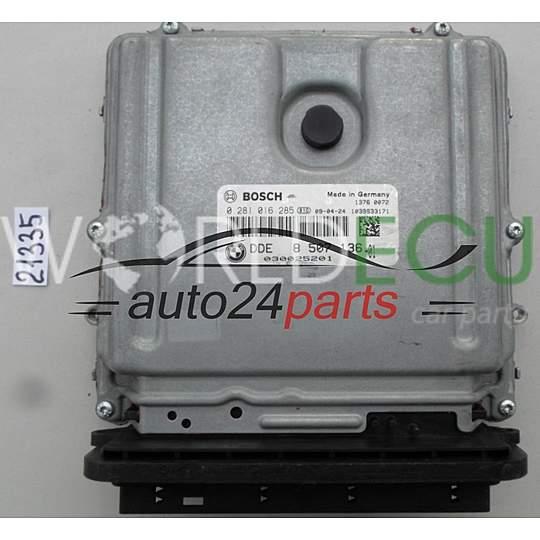 ECU Engine control unit BMW E90 BOSCH 0 281 016 285, 0281016285, DDE