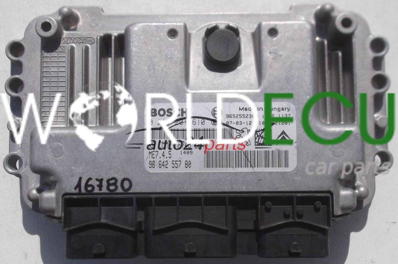 ecu engine controller peugeot 307 1 6 bosch 0 261 201 610