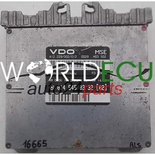 ECU ENGINE CONTROLLER MERCEDES W202 VDO 412 229/002/012, 412229002012, 014  545 03 32 (02), 0145450332