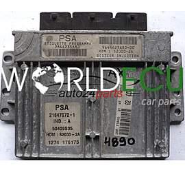 CITROEN PEUGEOT 206 1.4 ENGINE ECU 9644235680 9644625680-00 21647072-1
