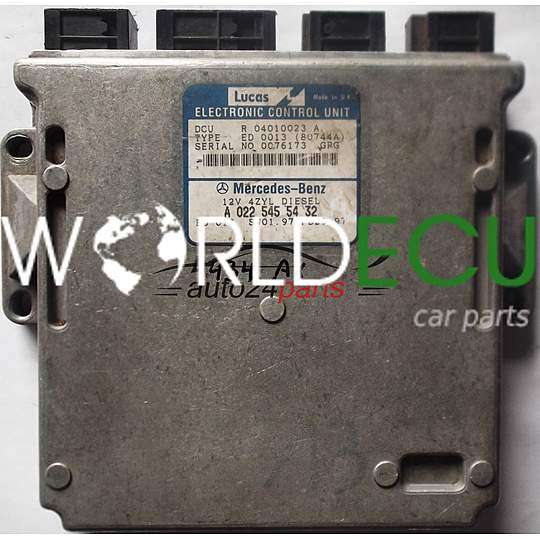 ECU ENGINE CONTROLLER MERCEDES W202 C220 DIESEL A0225455432, 0225455432, A  022 545 54 32 R04010023A, R 04010023 A