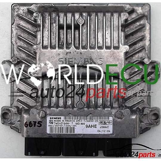 ECU ENGINE CONTROLLER FORD FOCUS 1 6 TDCI 4M51-12A650-ZE, 4M5112A650ZE,  5WS40166H-T, 9AHE