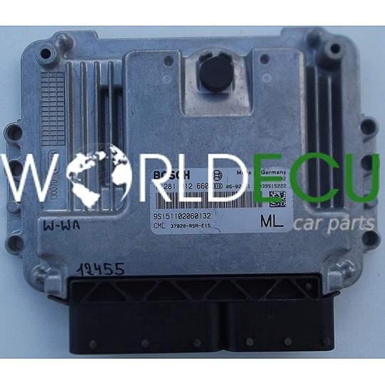 Ecu Engine Controller Honda Civic 2 2 Cdti Bosch 0 281 012