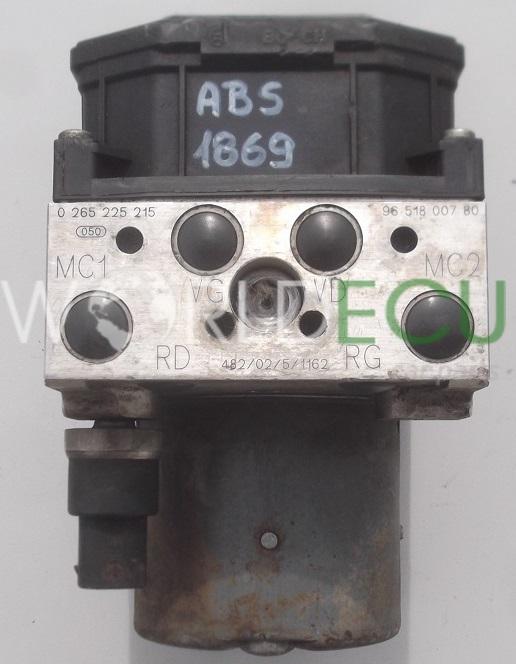 abs pump peugeot 307 bosch 0 265 225 215  0265225215  96