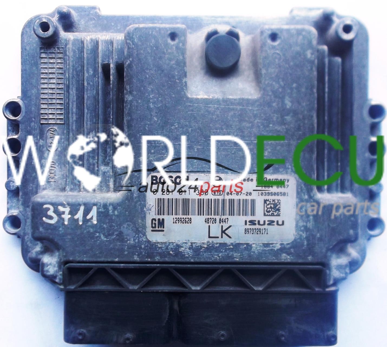 Ecu Engine Controller Opel Astra H 17 Cdti Z17dtl Z17dth Bosch 0 281 011 380 0281011380 Gm 12992628 Lk Isuzu 8973729171 on Isuzu Glow Plug Controller