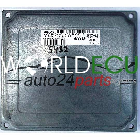 ECU ENGINE CONTROLLER FORD FOCUS FIESTA SIEMENS S118934101 D
