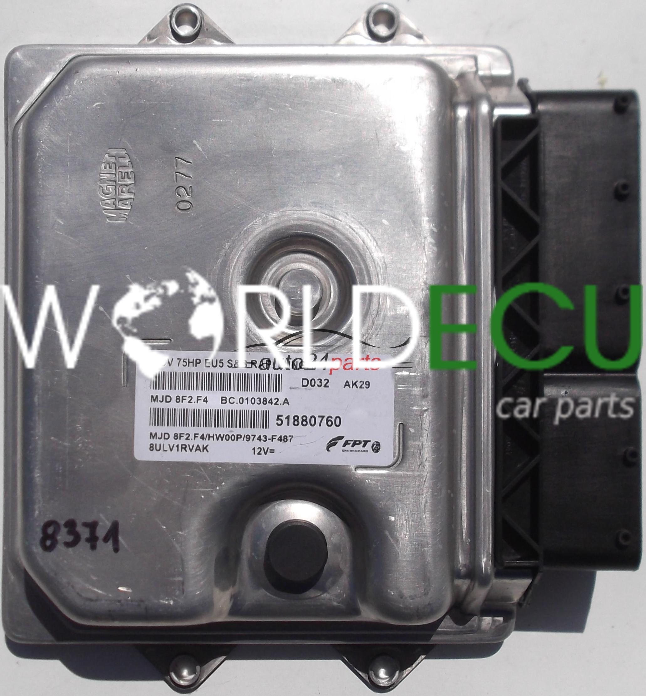 Ecu Engine Controller Fiat Fiorino 1 3  51880760  Mjd 8f2 F4  Mjd8f2f4  8ulv1rvak  Bc0103842a