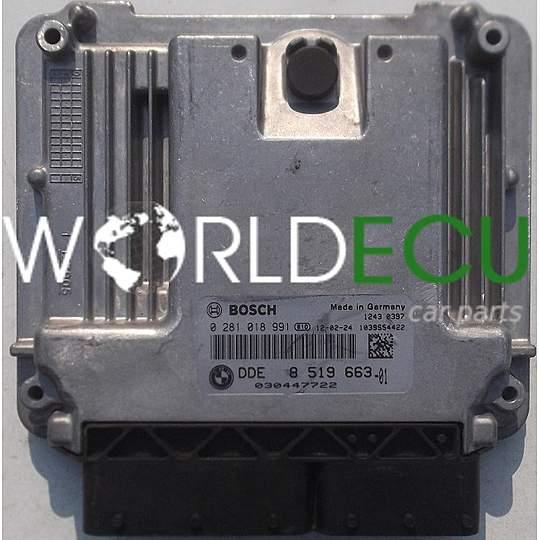 ECU ENGINE CONTROLLER BMW MINI COOPER 1 6 D BOSCH 0 281 018