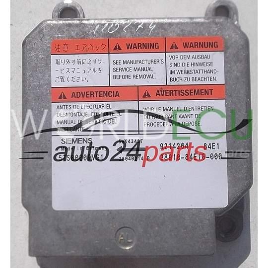 ecu airbag control module opel agila siemens 5wk43457 38910 84e10 rh worldecu com Owner's Manual Maintenance Manual