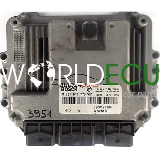 Ecu Engine Controller Renault Megane Scenic 1 9 Dci Bosch 0281011776  0 281 011 776  8200391966