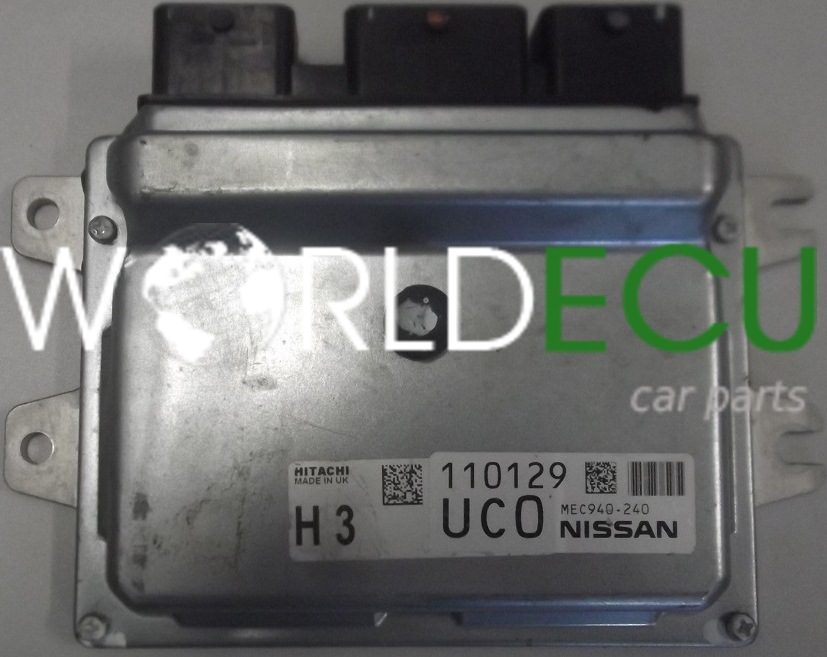 ECU ENGINE CONTROLLER NISSAN QASHQAI 1 6 HITACHI MEC940-240, MEC940240, H3