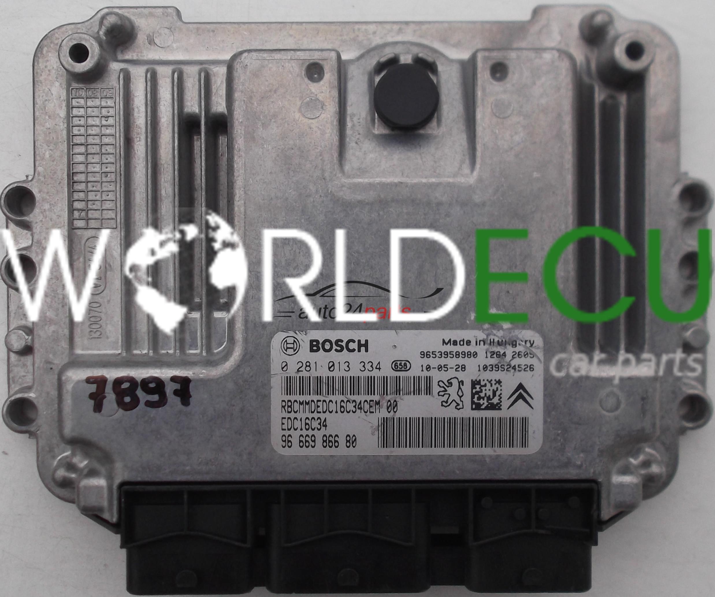 ecu engine controller peugeot 3008 citroen 1 6 hdi bosch 0 281 013 rh worldecu com