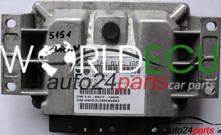 ECU ENGINE CONTROLLER PEUGEOT 207 1 4 IAW6LPC105 IAW6LPC