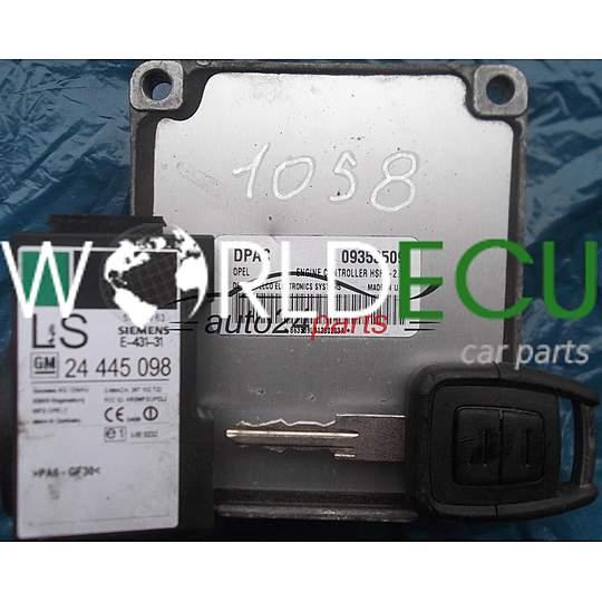 ECU ENGINE CONTROLLER OPEL ASTRA G CORSA C ZAFIRA A DELPHI DELCO 09353509  DPAC, 09353509DPAC, HSFI-2 1