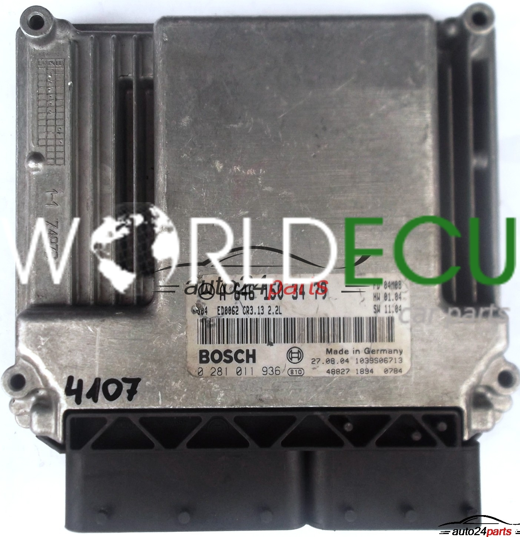 ECU ENGINE CONTROLLER MERCEDES W203 220 2 2 CDI A6461503479, 6461503479, A  646 150 34 79 BOSCH 0281011936, 0 281 011 936