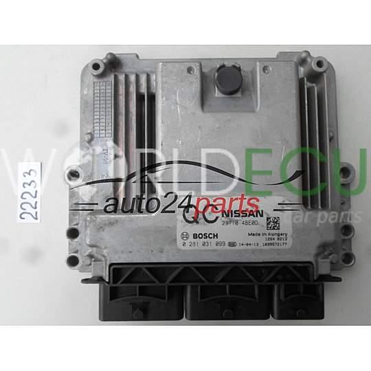 ECU Engine control unit NISSAN X-TRAIL BOSCH 0 281 031 099, 0281031099,  23710 4BE0D, 237104BE0D