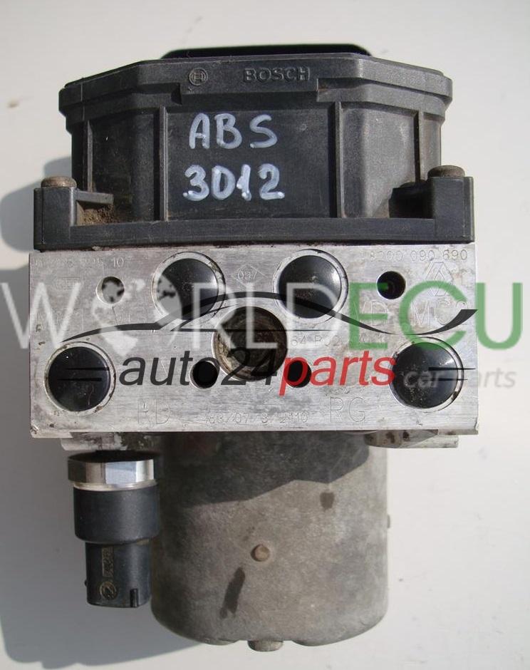 Abs Pump Module Renault Scenic Megane Bosch 0 265 225 107