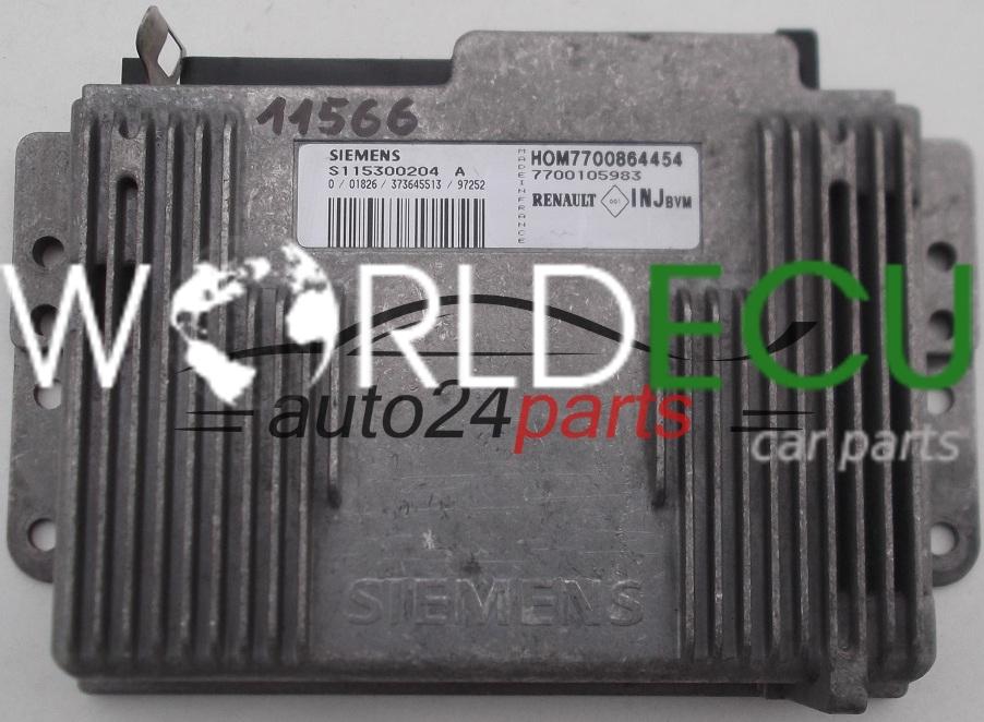 ecu engine controller renault megane 1 6 s115300204 a