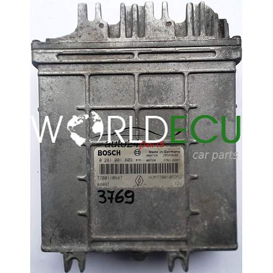 Calculateur Moteur Renault Megane Scenic 1 9 Tdi Bosch 0281001809 0 281 001 809 7700110647 Hom7700105953 Hom 7700105953