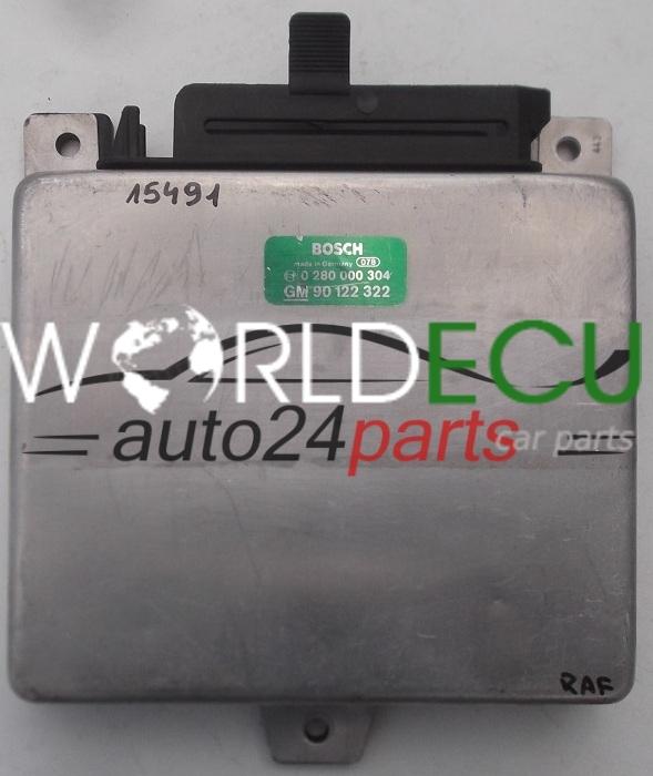 ecu engine controller opel ascona kadett bosch 0 280 000