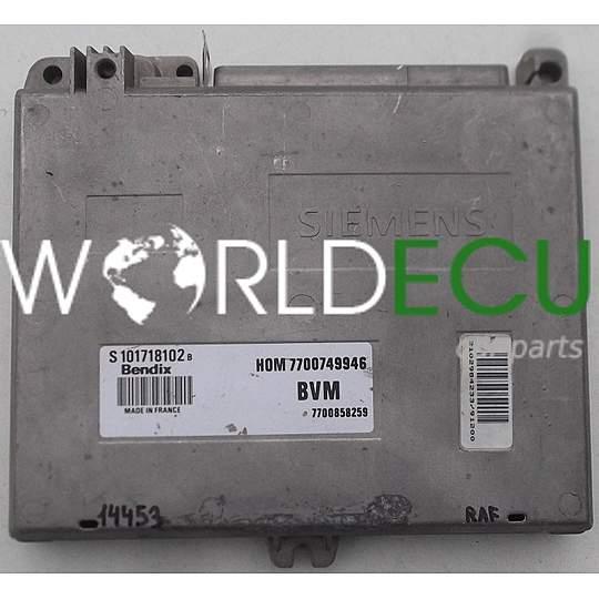 ecu engine controller renault clio bendix s101718102 b