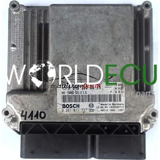 ECU ENGINE CONTROLLER MERCEDES W203 220 2 2 CDI A6461500679, 6461500679, A  646 150 06 79 BOSCH 0281011737, 0 281 011 737