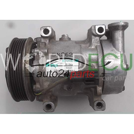 COMPRESSOR AIR CONDITIONING CON AIR CONDITIONING PUMP FORD FIESTA 1.4 TDCI SANDEN SD6V12, 2S6119D629AE